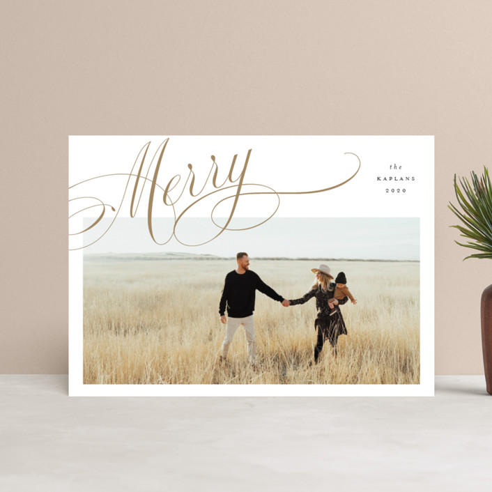 """""""Flourished"""" - Holiday Petite Cards in Wheat by Stacey Meacham."""