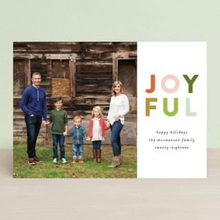 Colorful Joyful Holiday Petite Cards