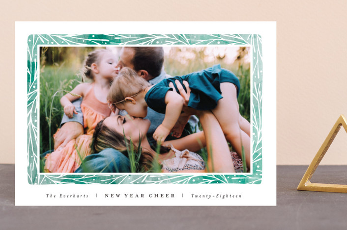 """""""Organic Frame"""" - Holiday Petite Cards in Viridian by Olivia Raufman."""