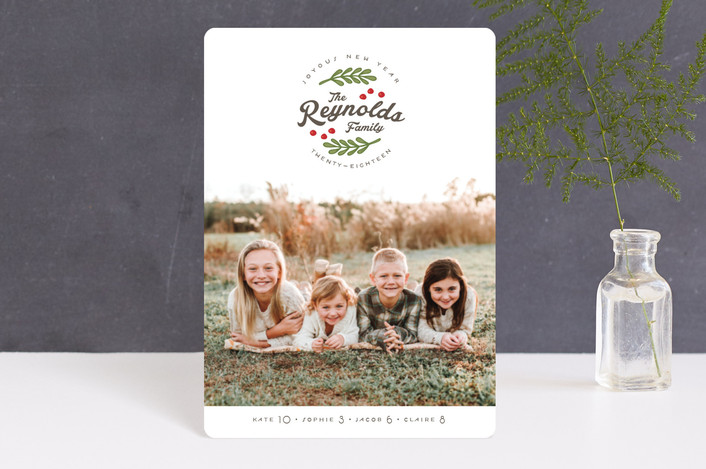 """All Together"" - Vintage Holiday Petite Cards in Emerald by Lorent and Leif."