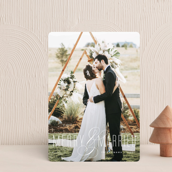 """Merry and Married"" - Holiday Petite Cards in Snow by roxy."