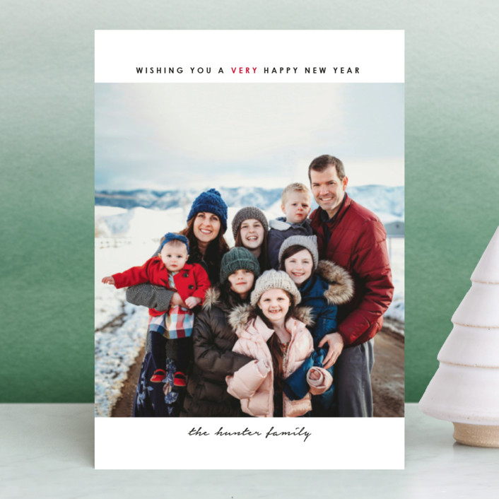 """""""simple christmas"""" - Holiday Petite Cards in Cherry by Laura Hamm."""