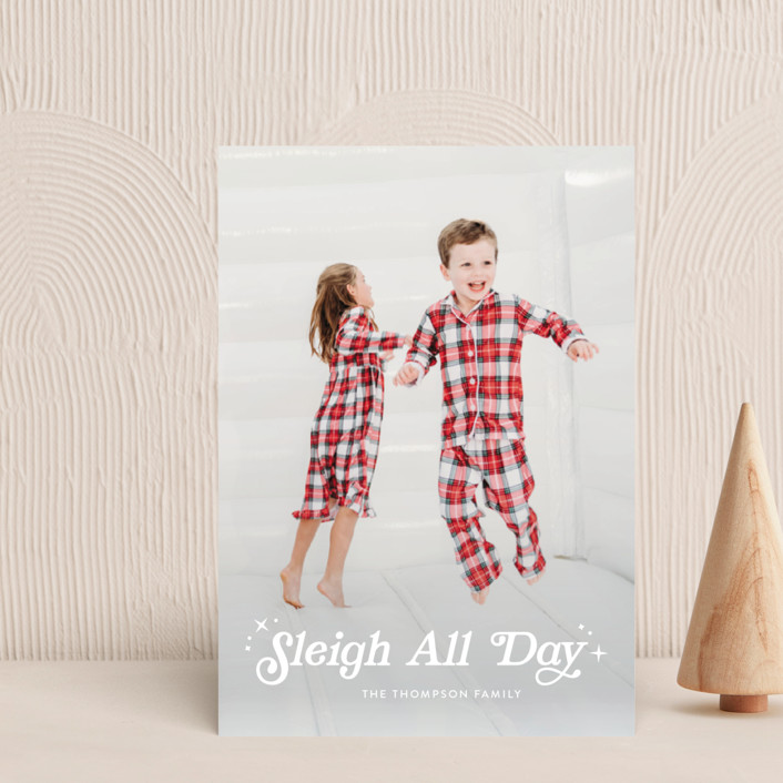 """""""Sleigh All Day"""" - Vintage Holiday Petite Cards in Snowfall by Itsy Belle Studio."""
