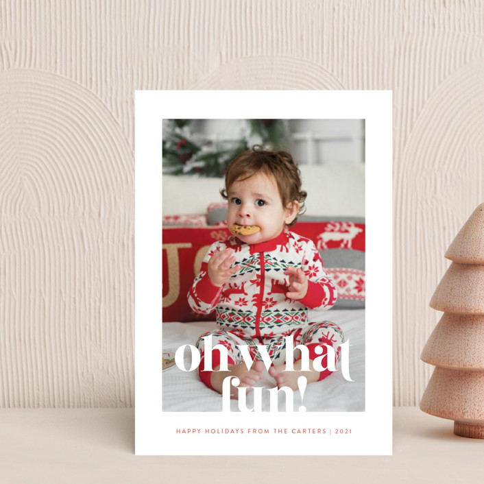 """""""There's a List"""" - Funny Holiday Petite Cards in Persimmon by Olivia Raufman."""