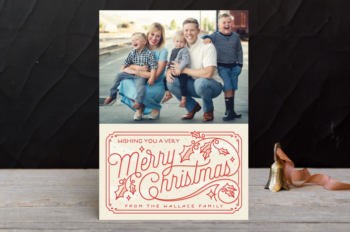 """""""Christmas Time"""" - Holiday Petite Cards in Cardinal by GeekInk Design."""