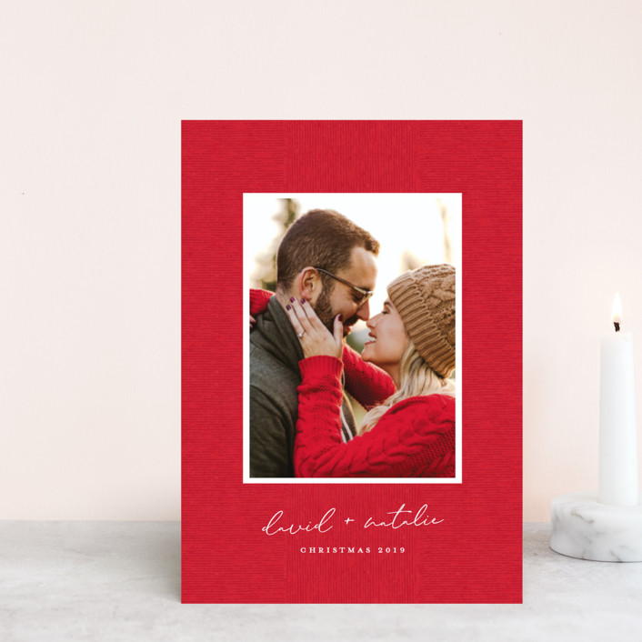 """""""Grosgrained"""" - Holiday Petite Cards in Berry by Ellis."""