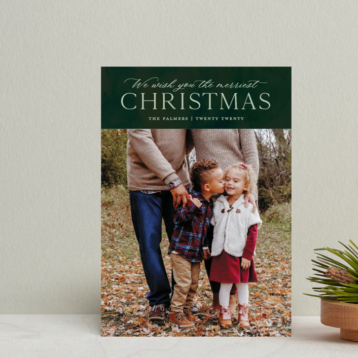 """""""We Wish"""" - Holiday Petite Cards in Forest by Ellis."""
