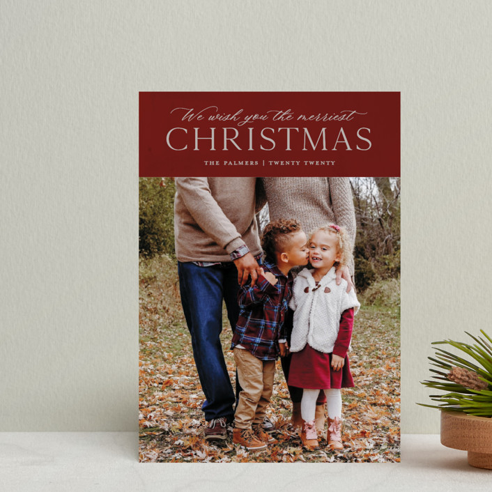 """We Wish"" - Holiday Petite Cards in Wine by Ellis."