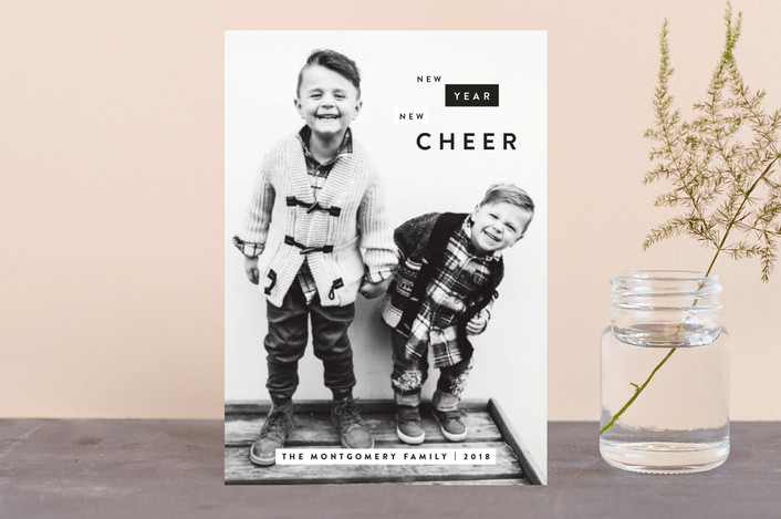 """Boxes of Cheer"" - Holiday Petite Cards in Charcoal by JoAnn Jinks."