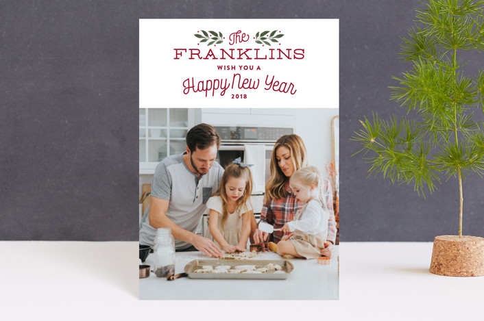 """""""Our Family"""" - Holiday Petite Cards in Holly by Kelly Nasuta."""