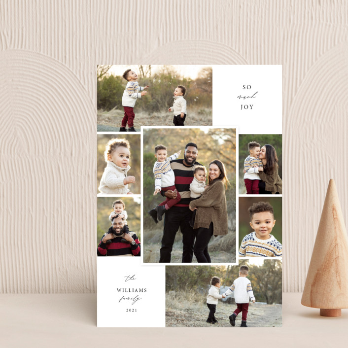 """""""Merry Seven"""" - Vintage Holiday Petite Cards in Snowflake by Holly Whitcomb."""