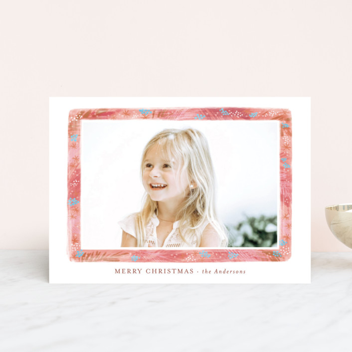 """""""Stylish greenery frame"""" - Holiday Petite Cards in Evergreen by Alexandra Dzh."""