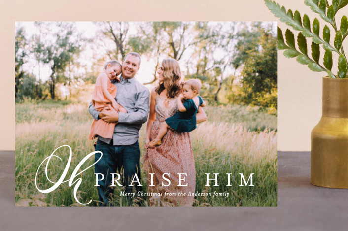 """""""Oh Praise Him"""" - Holiday Petite Cards in Moonstone by Jessica Williams."""