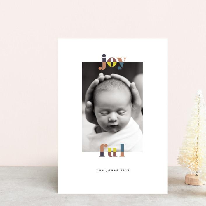 """color-block joyful"" - Holiday Petite Cards in Classic by Faith Dorn."