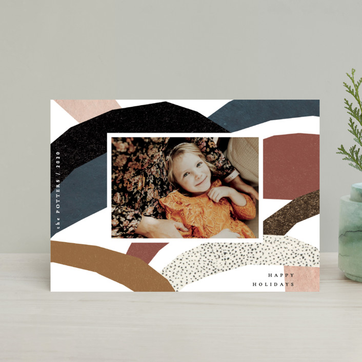 """imaginary hills"" - Modern Holiday Petite Cards in Rainbow Rock by Sumak Studio."