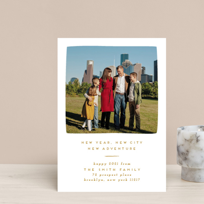 """""""Simple New Adventure"""" - Holiday Petite Cards in Ochre by Julie Murray."""