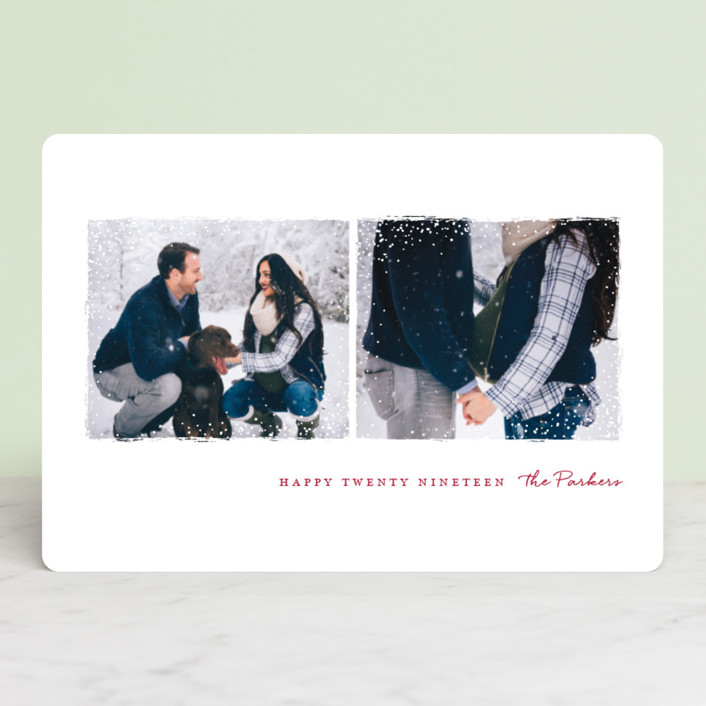 """Snowy Frames"" - Holiday Petite Cards in Cherry by Jessica Maslyn."