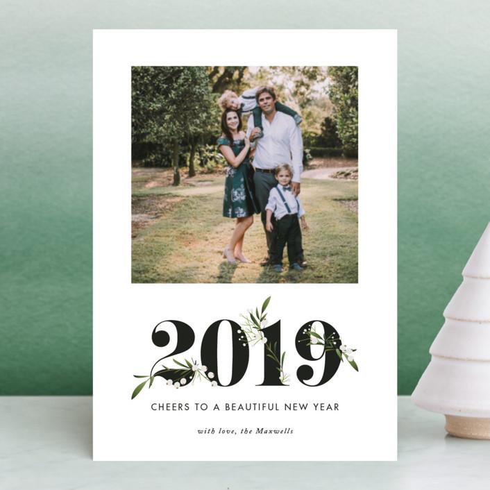 """Adorned Year"" - Holiday Petite Cards in Tuxedo by Jennifer Postorino."
