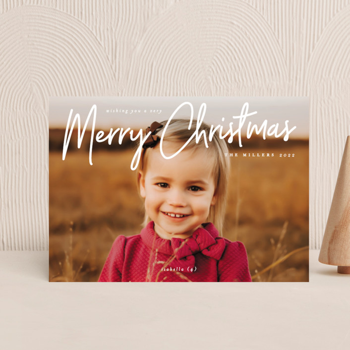 """""""A Signature Holiday"""" - Modern Holiday Petite Cards in Snow by Liz Conley."""
