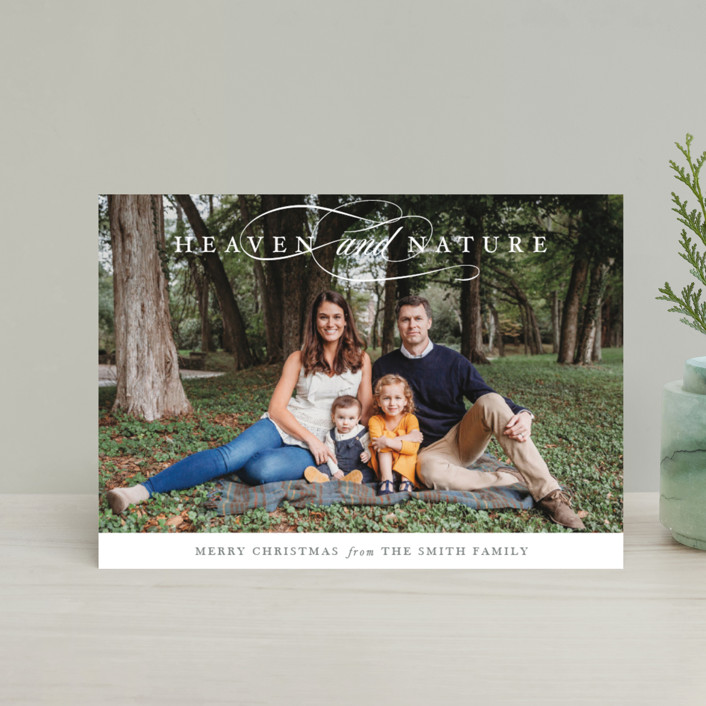 """""""Just Heaven and Nature"""" - Holiday Petite Cards in Greige by Park House Paperie."""
