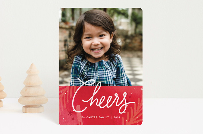 """paint splattered peace"" - Bohemian Holiday Petite Cards in Crimson by Jennifer Wick."
