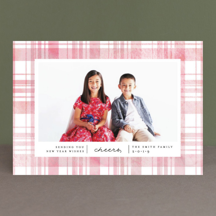 """""""Festive Plaid"""" - Holiday Petite Cards in Evergreen by Carolyn Nicks."""