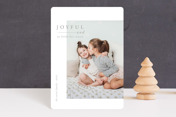 """Joyful and Crazy"" - Holiday Petite Cards in Smoke by Nikkol Christiansen."