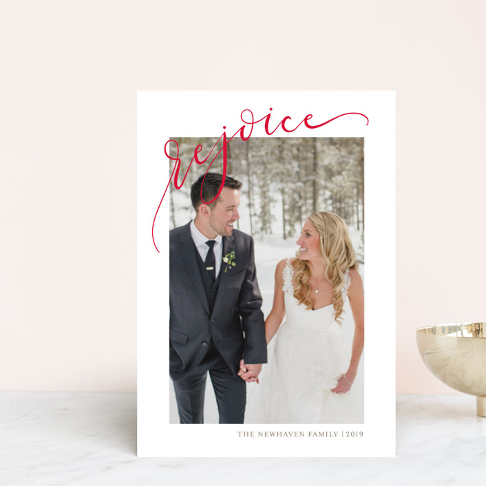 """""""Rejoicing"""" - Holiday Petite Cards in Berry by Erin Niehenke."""
