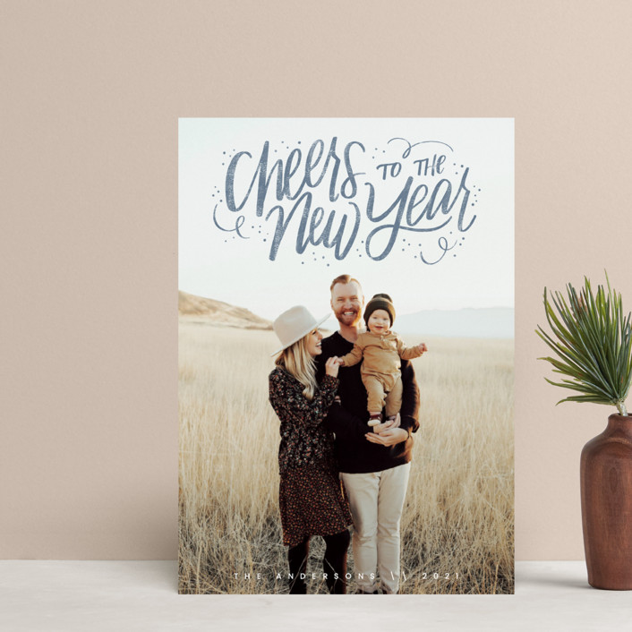 """""""Cheerful Lettering"""" - Bohemian Holiday Petite Cards in Frost by Cindy Reynolds."""