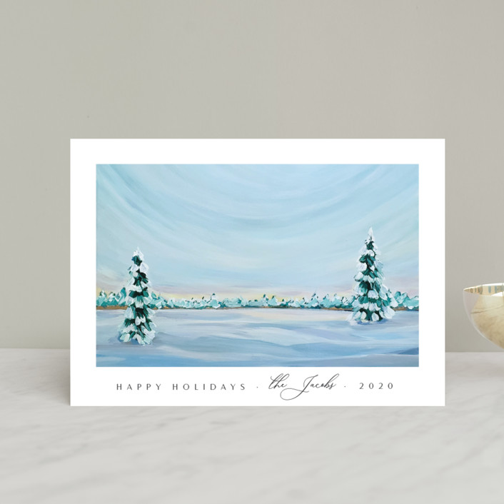"""""""Morning Light"""" - Holiday Petite Cards in Snowfall by Nicole Walsh."""