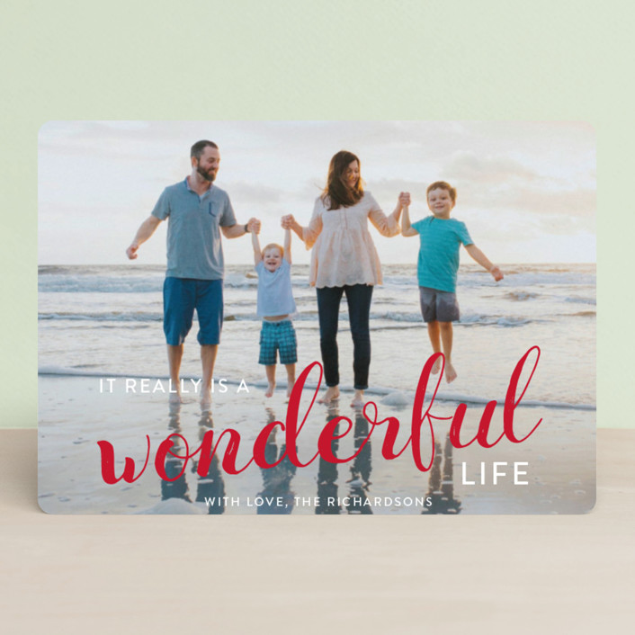 """It really is a wonderful life"" - Holiday Petite Cards in Cardinal by Leah Ragain."
