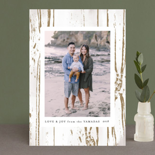 Gilded Woodgrain Holiday Petite Cards