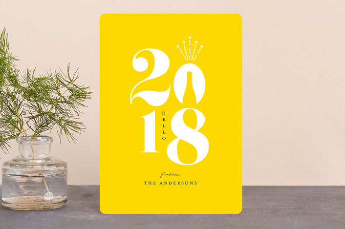 """Celebrate a new year"" - Holiday Petite Cards in Mimosa by iamtanya."