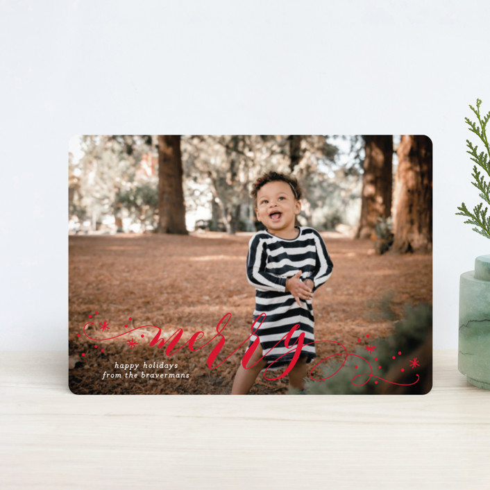 """""""Jubilant"""" - Holiday Petite Cards in Snowfall by Jessica Williams."""
