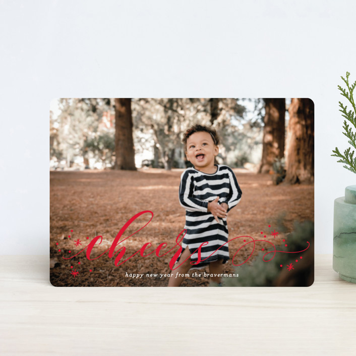 """""""Jubilant"""" - Holiday Petite Cards in Pomegranate by Jessica Williams."""
