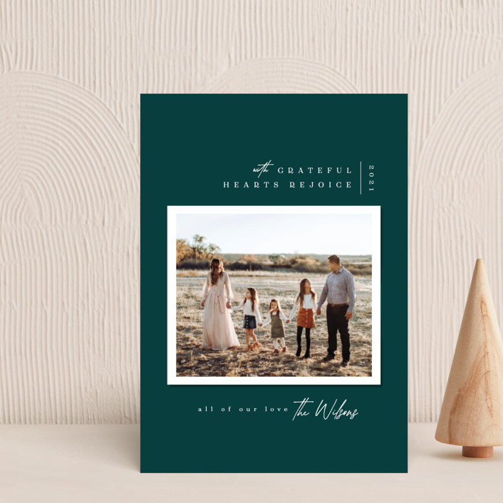 """""""Modern Snapshot"""" - Holiday Petite Cards in Juniper by Owl and Toad."""