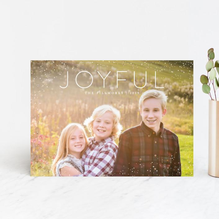"""Joyful"" - Holiday Petite Cards in Snow by Kate Sorensen."