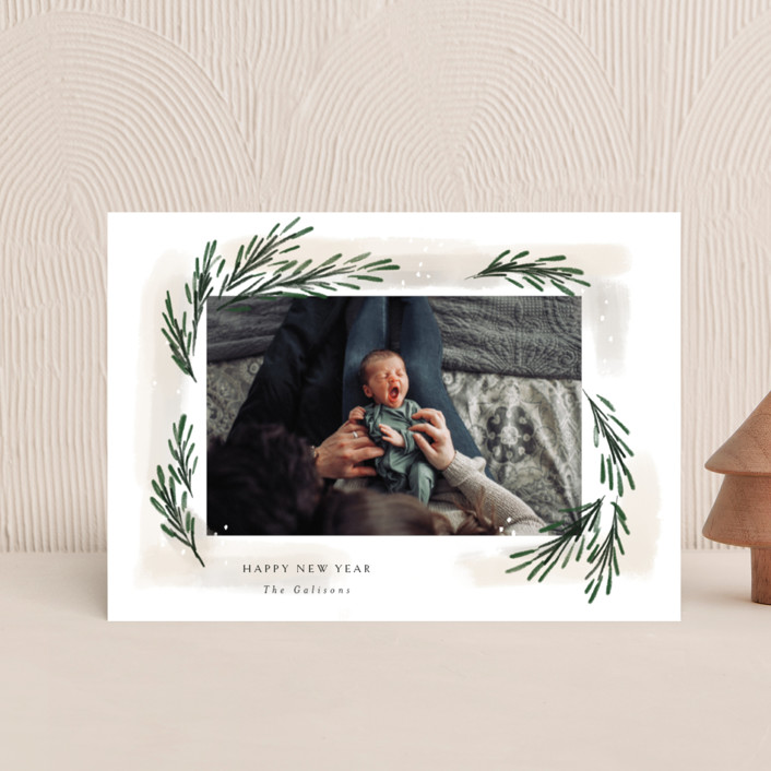 """""""sweeping sprigs"""" - Holiday Petite Cards in Eggnog by Rebecca Durflinger."""