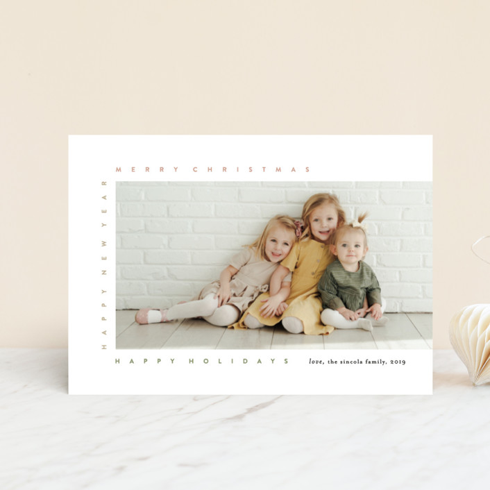 """""""merry frame"""" - Holiday Petite Cards in Petal by Bethany McDonald."""