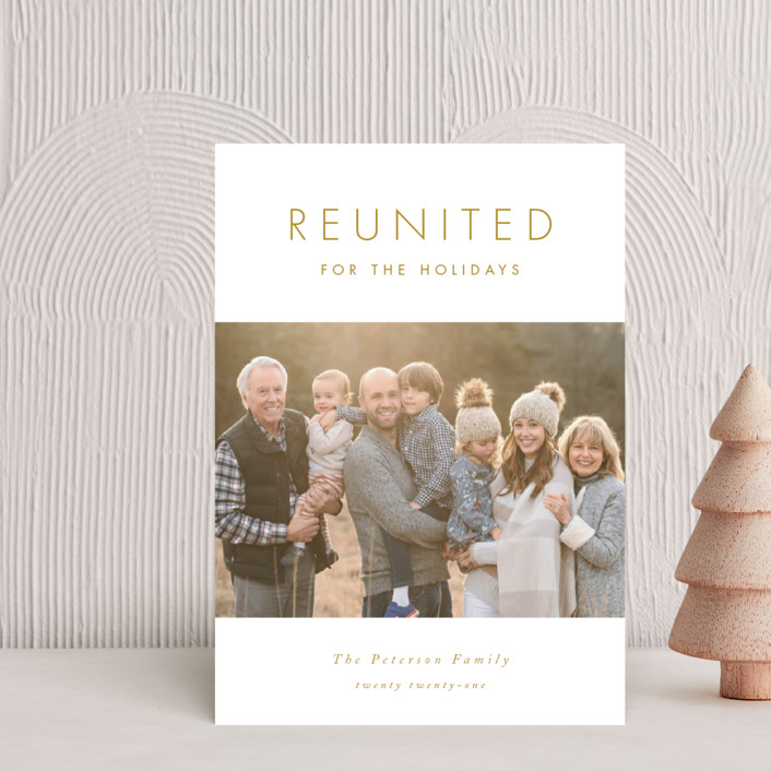 """""""Reunited"""" - Holiday Petite Cards in Snow by Catherine Culvenor."""