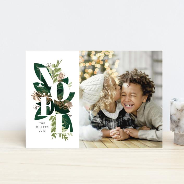 """Noel Greenery"" - Holiday Petite Cards in Evergreen by JeAnna Casper."