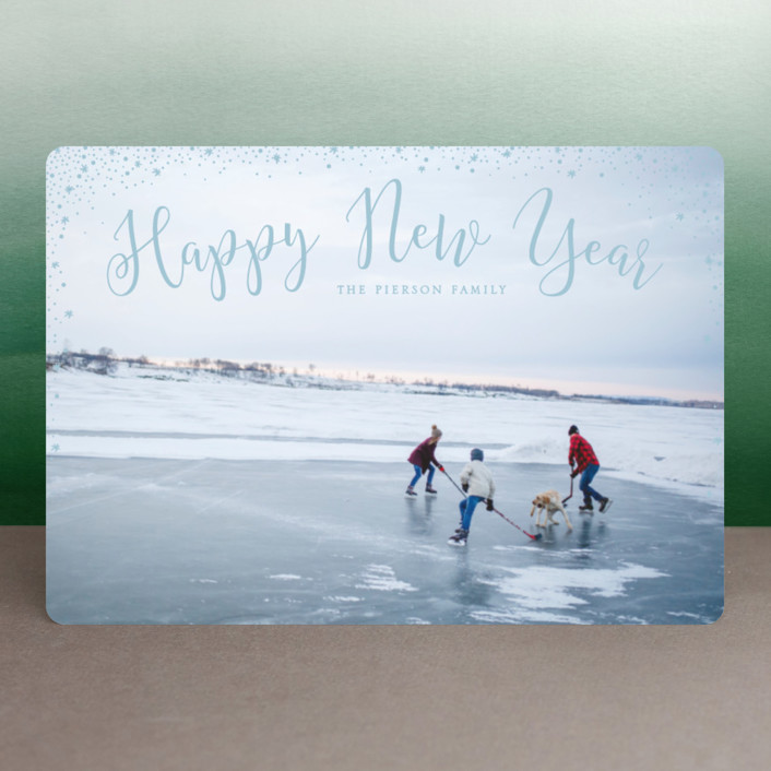 """""""sparkle sparkle"""" - Holiday Petite Cards in Cornflower by Erin Deegan."""