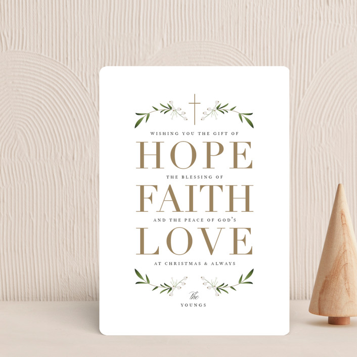 """The Gift of Hope"" - Holiday Petite Cards in Gilded Gold by Jennifer Postorino."