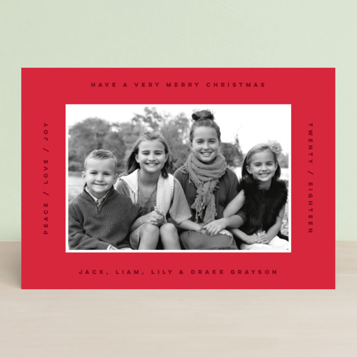 """border boldness"" - Holiday Petite Cards in Crimson by Design Lotus."