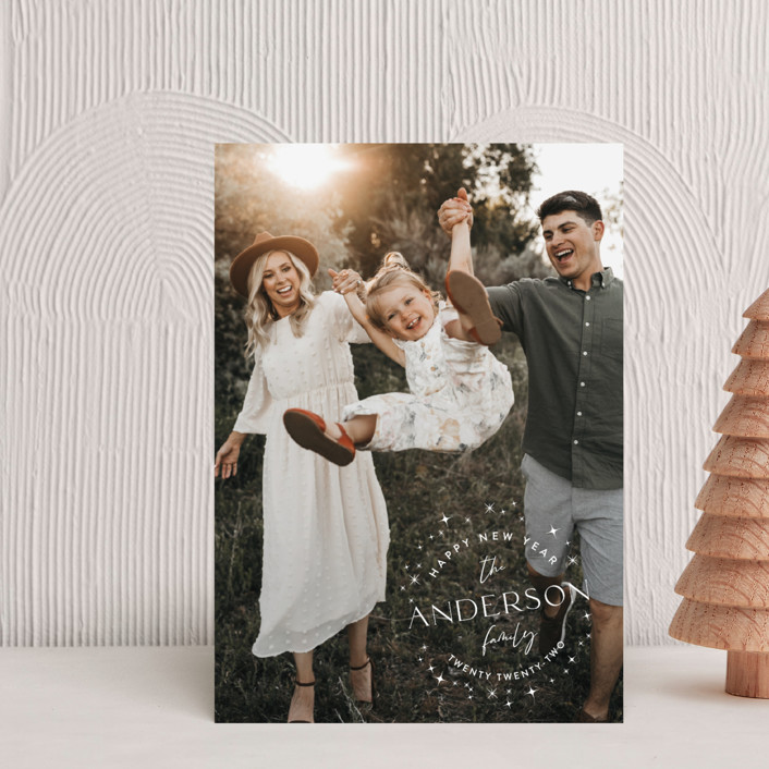 """""""Stardusted Name"""" - Bohemian Holiday Petite Cards in Snow by Robin Ott."""