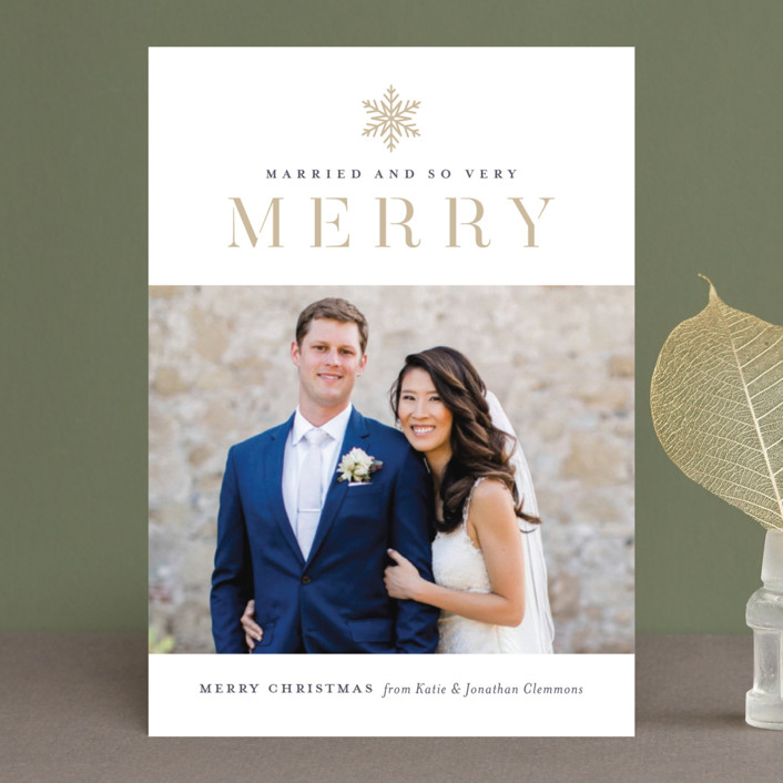 """""""Snow Merry"""" - Holiday Petite Cards in Golden by Jessica Williams."""