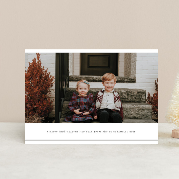 """""""Triline"""" - Holiday Petite Cards in Charcoal by That Girl Press."""