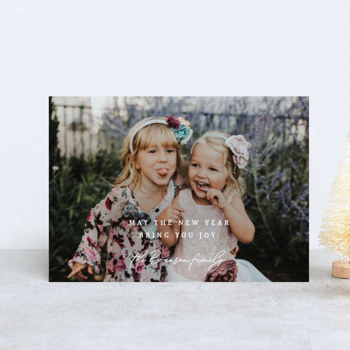"""""""New Year Joys"""" - Holiday Petite Cards in Snow by Bonjour Berry."""