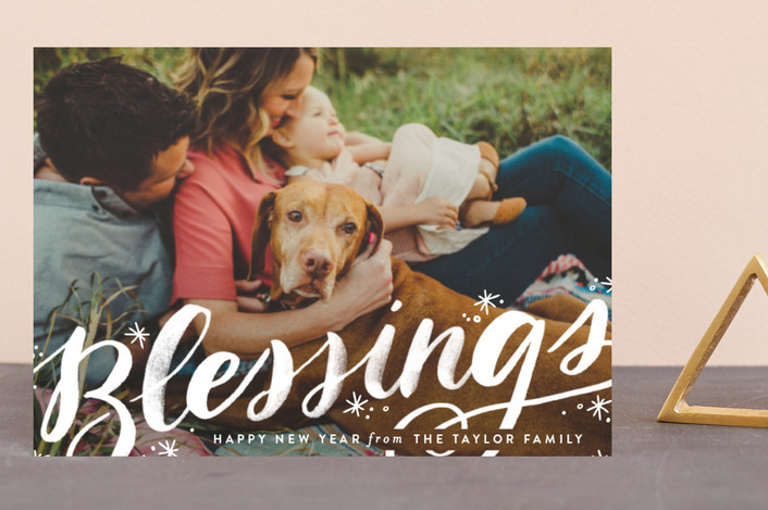 """""""Sweeping Blessings"""" - Bohemian Holiday Petite Cards in Snow by Alethea and Ruth."""