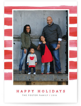 Candy Cane Watercolor Holiday Petite Cards